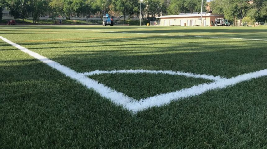 Nuevo campo de fútbol con césped artificial COMPOGRASS en Madrid