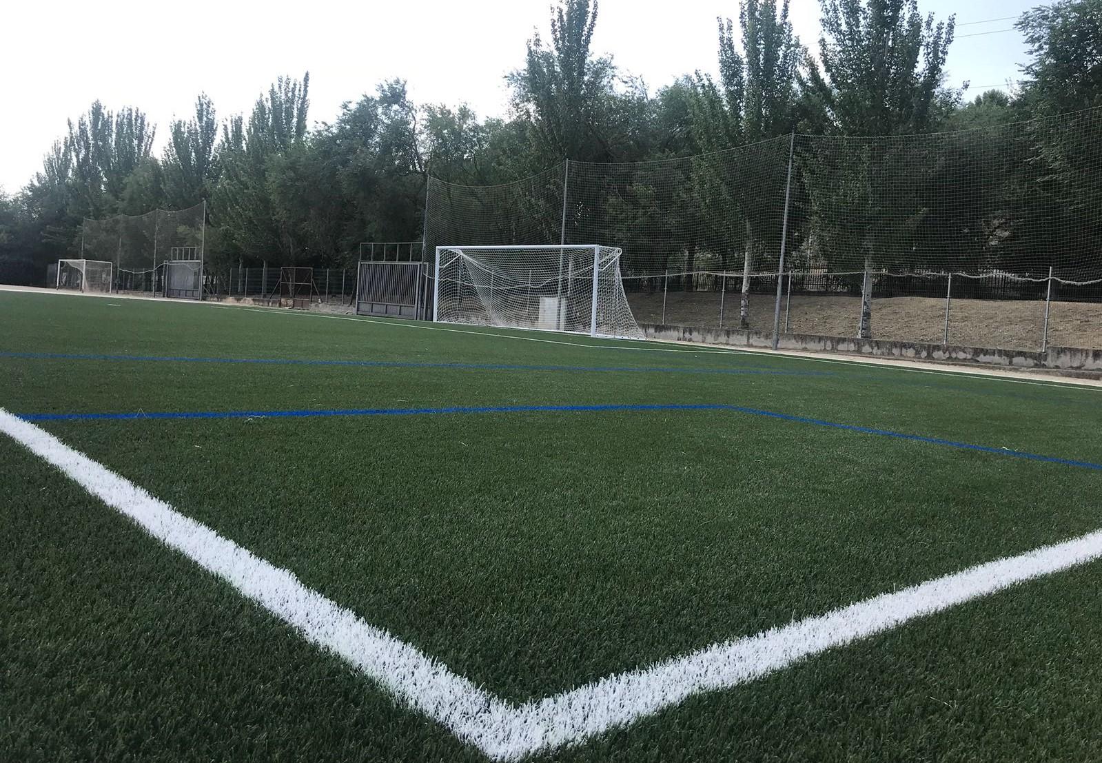 Campo de fútbol Valdemoro_cesped_COMPOGRASS