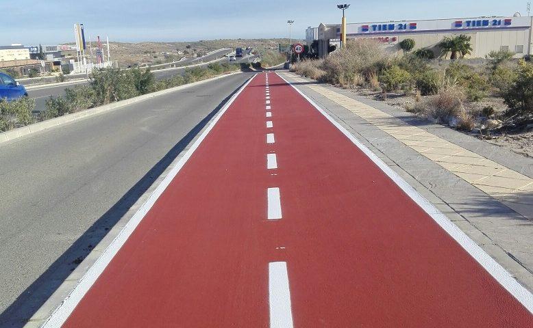 Nuevo tramo de carril bici en Vera (Almería)