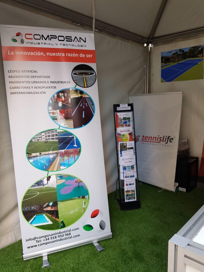 Tennislife, de COMPOSAN, en la Copa Davis Valencia 2018