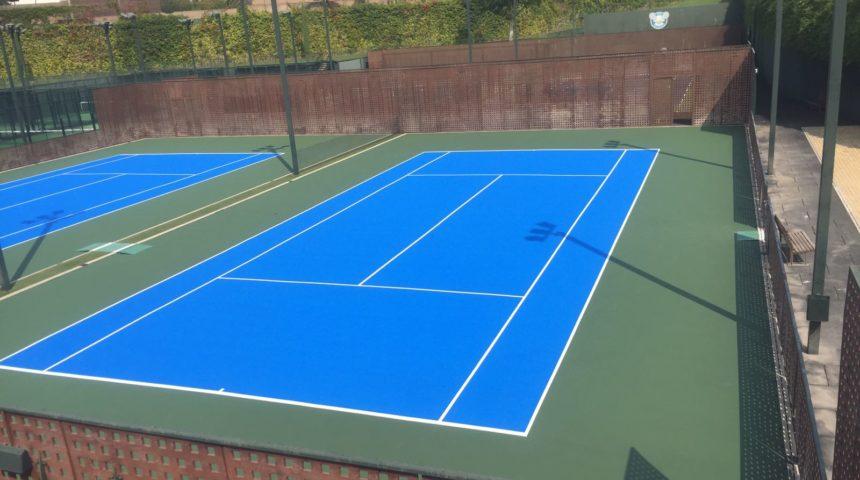COMPOSAN realiza 4 pistas de tenis nuevas en el Reebok Sports Club La Finca (Pozuelo de Alarcón, Madrid)