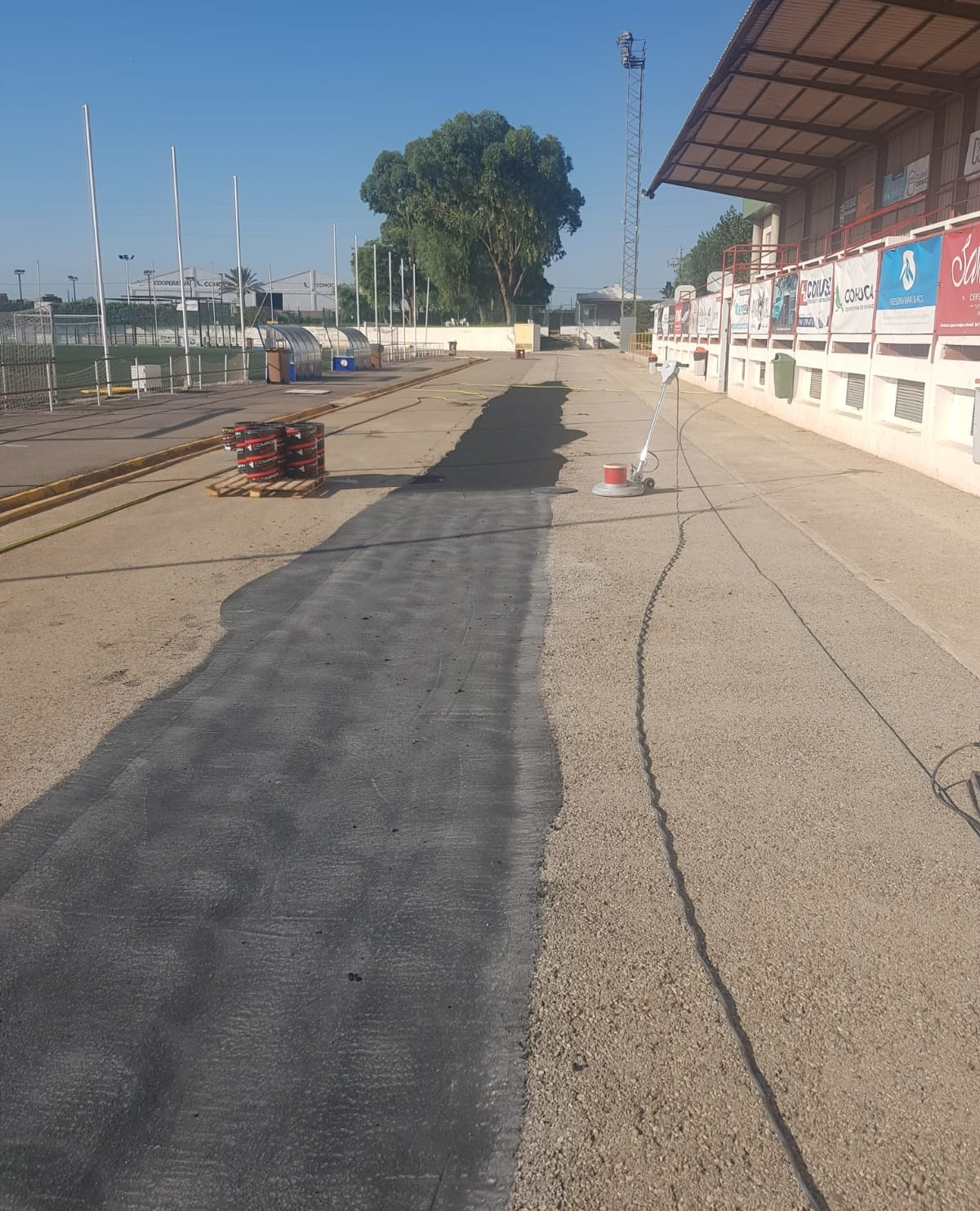 Sistema Sportplus sobre asfalto