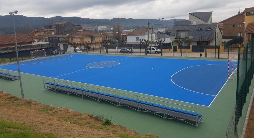 Pista en Villalba Saserra. – Sistema Sportplus sobre hormigón