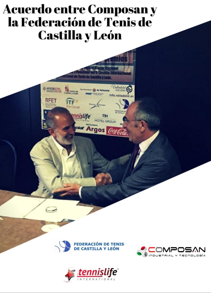 Acuerdo entre Composan y la Federación de Tenis de Castilla y León