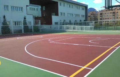 Pista en Villalba de Saserra. – Sistema Sportplus sobre hormigón